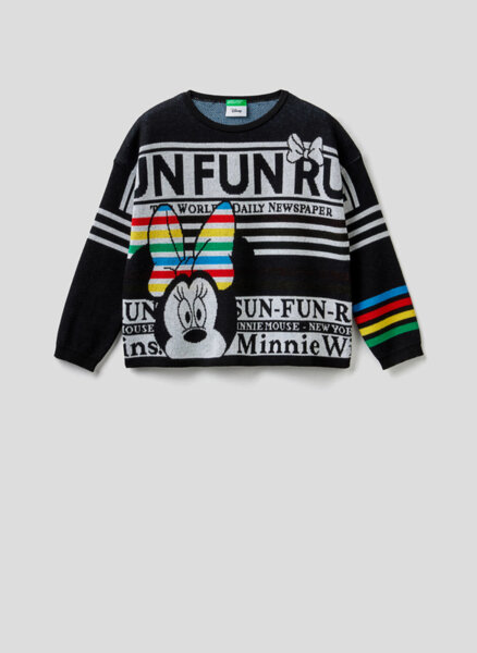 Пуловер с Minnie Mouse Benetton Junior