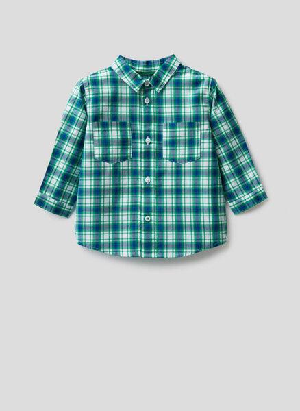 Карирана риза Benetton Kid