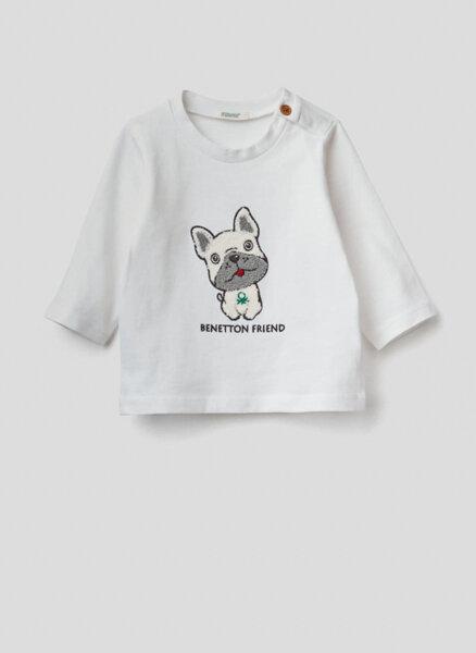 Памучна блуза Benetton New born