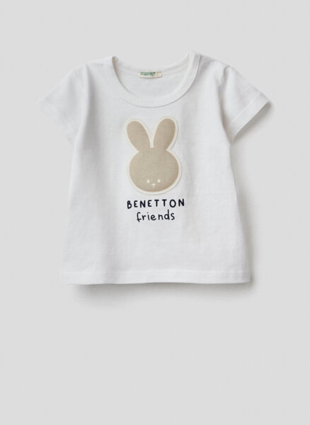 Тениска от органичен памук Benetton New Born