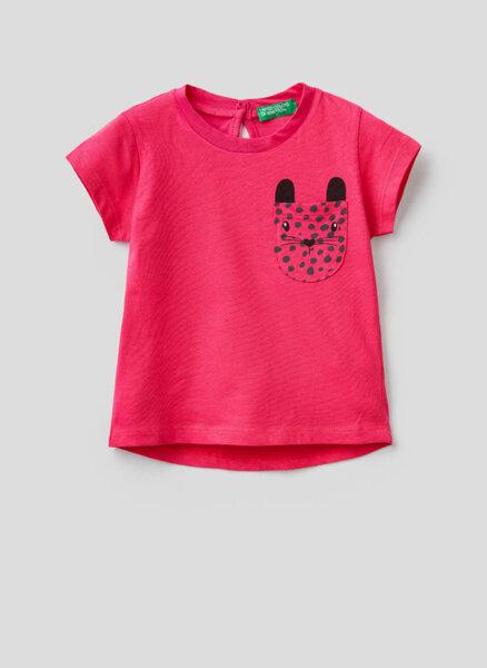 Тениска от памук Benetton Kid