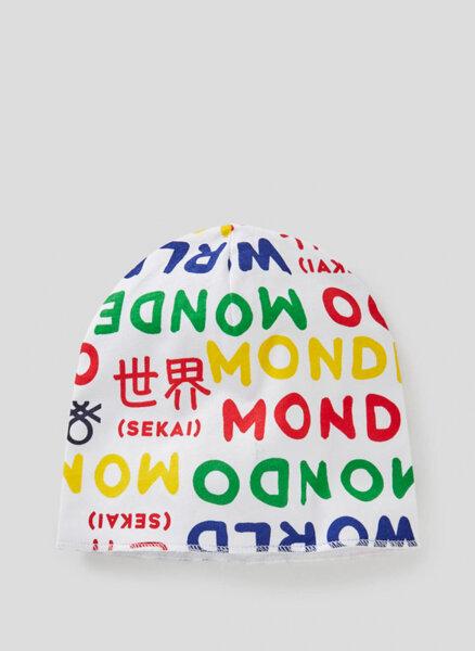 Памучна шапка Benetton New born