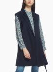 Sleeveless coat-jacket