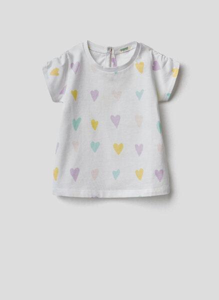 Тениска с принт Benetton New born