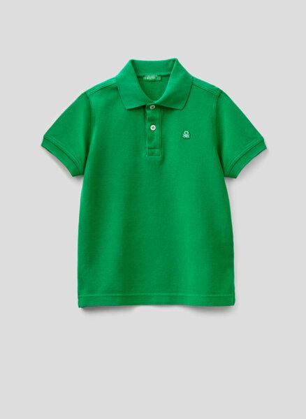 Полошърт с бродирано лого Benetton