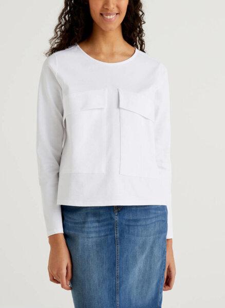 Блуза с джобове Benetton