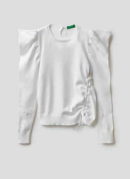 Памучен пуловер Benetton Junior