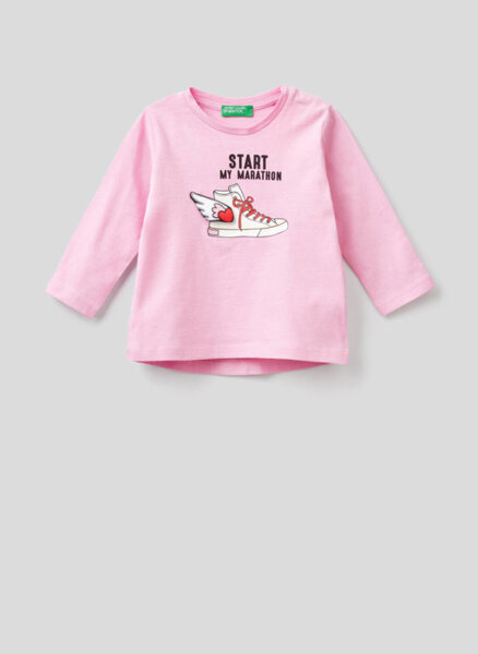 Памучна блуза Benetton Kid