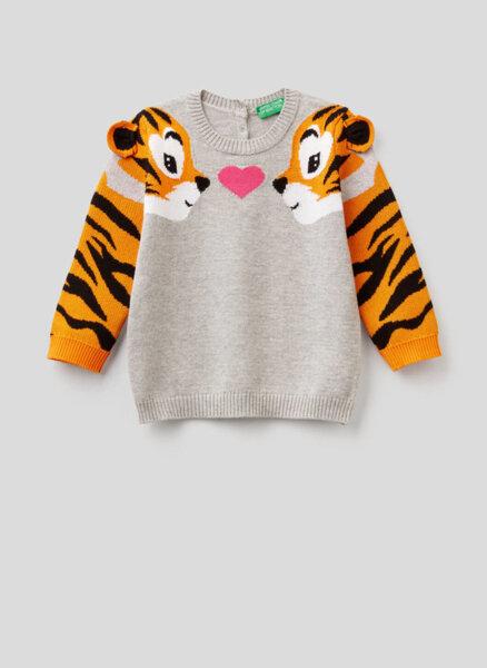 Пуловер с апликации Benetton Kid