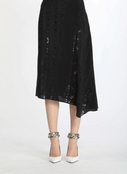 Асиметрична пола с дантела Nº21