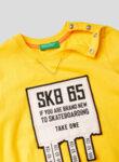 Тениска от памук с апликации Benetton Kid-Copy