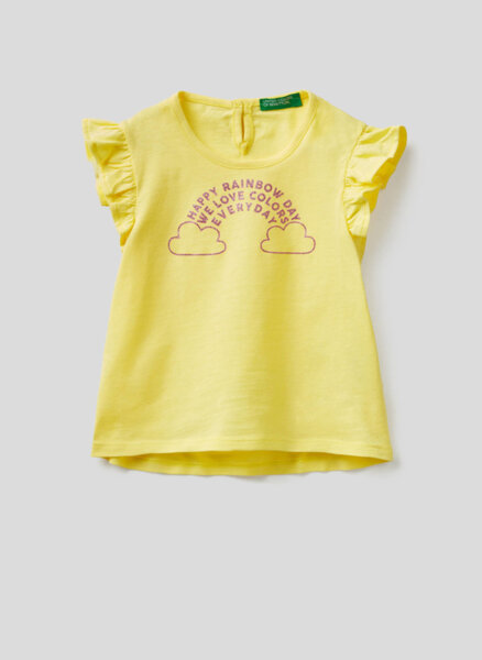 Памучна тениска Benetton Kid