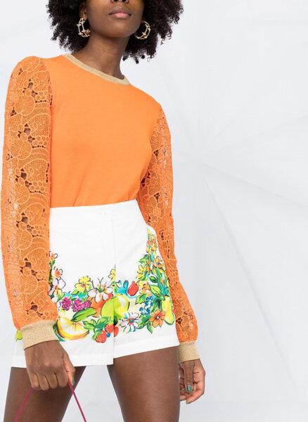 Пуловер с дантела Boutique Moschino
