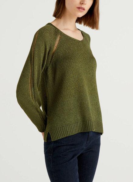 Пуловер с V деколте Benetton