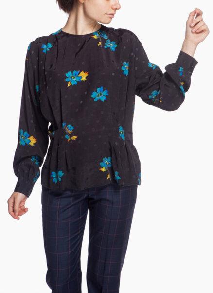Блуза от вискоза с принт Paul Smith