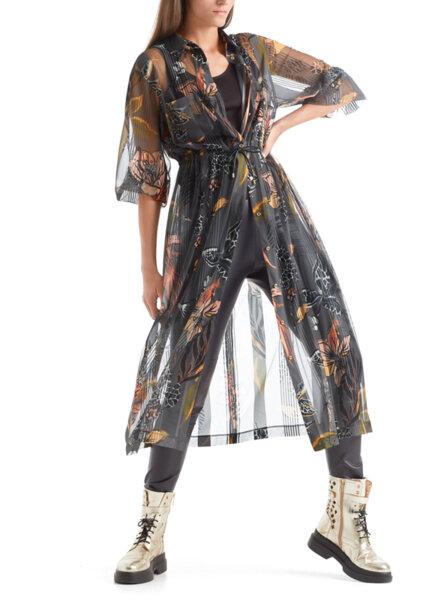 Макси рокля с принт Marc Cain Collections