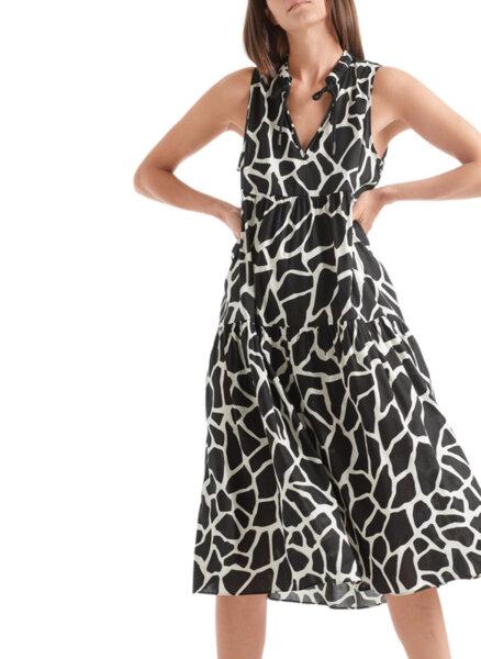 Миди рокля с принт Marc Cain Collections
