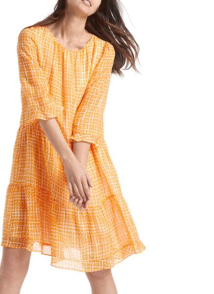 Копринена рокля с принт Marc Cain Collections