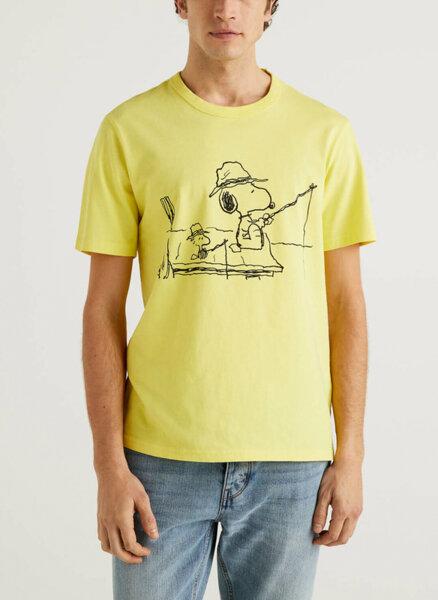 Памучен тишърт Snoopy Benetton
