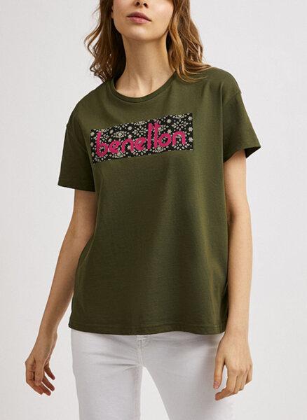 Тениска с логоUnited Colors of Benetton