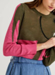 Пуловер с анималистичен десен Benetton-Copy