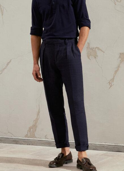 Панталон от лен Brunello Cucinelli