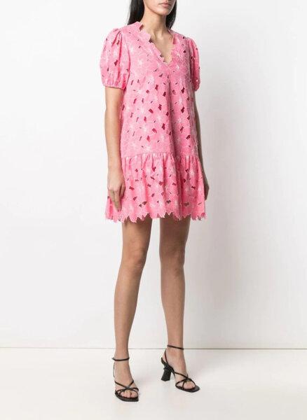 Мини рокля с флорална бродерия Red Valentino