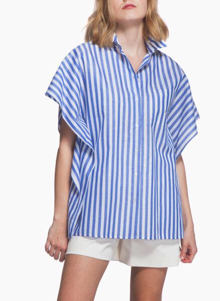 Риза от лен и памук Weekend Max Mara Klenia