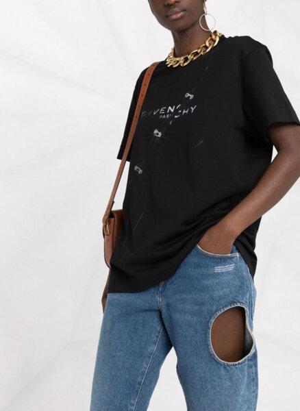 Тишърт от памук Givenchy