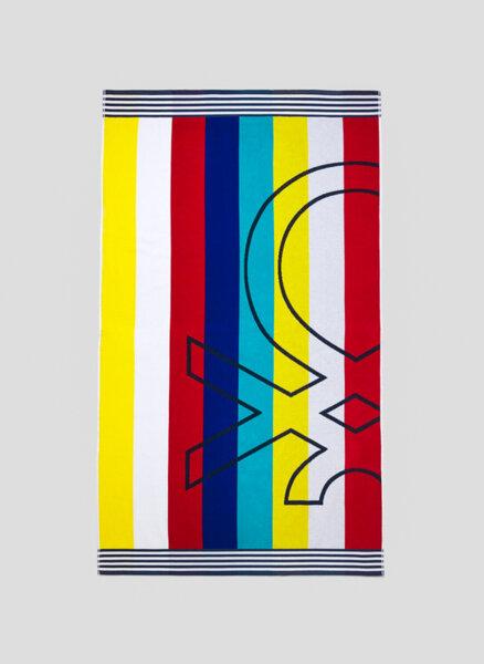 Плажна кърпа с лого Benetton