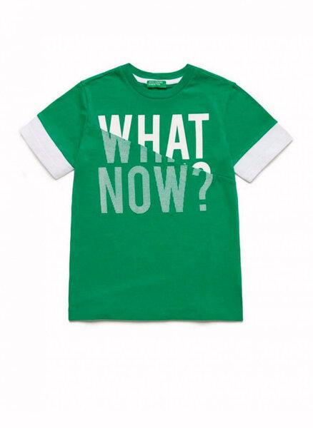 Тениска от памук с принт Benetton Kid/Junior