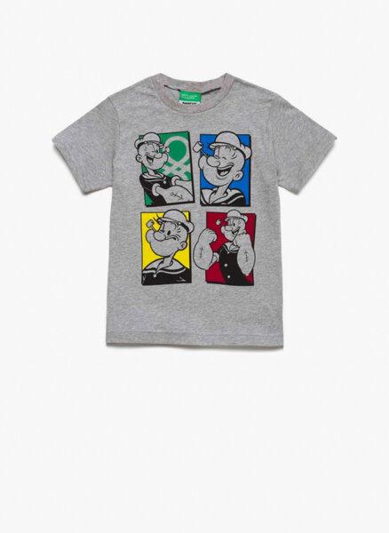 Тениска с принт Popeye Benetton Kid/Junior