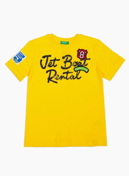 Тениска от памук с принт Benetton Junior