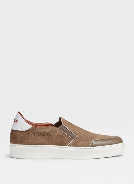 Велурени обувки Ermenegildo Zegna