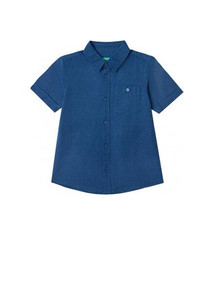 Риза с лен Benetton Kid/Junior