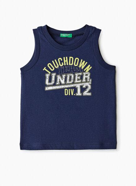 Тениска от памук с принт Benetton Kid/Junior цветове