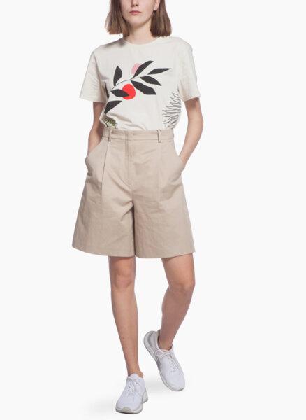 Къс панталон от памук и лен Weekend Max Mara Visino