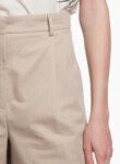Къс панталон от памук и лен Weekend Max Mara Visino-Copy