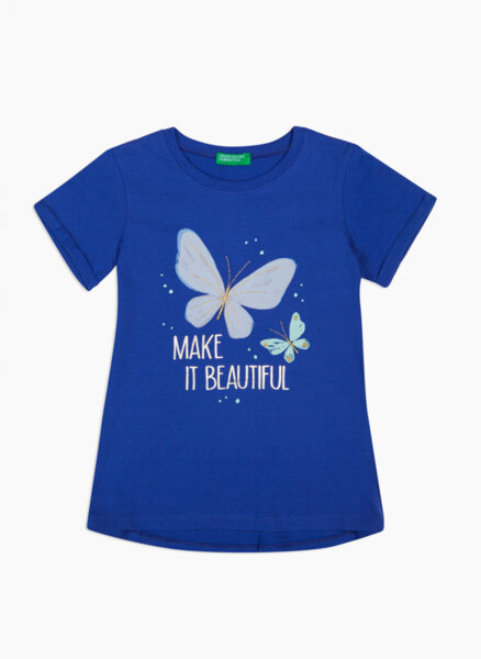 Тениска от памук с принт Benetton Kid