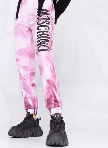 Спортен панталон с принт  Moschino Couture