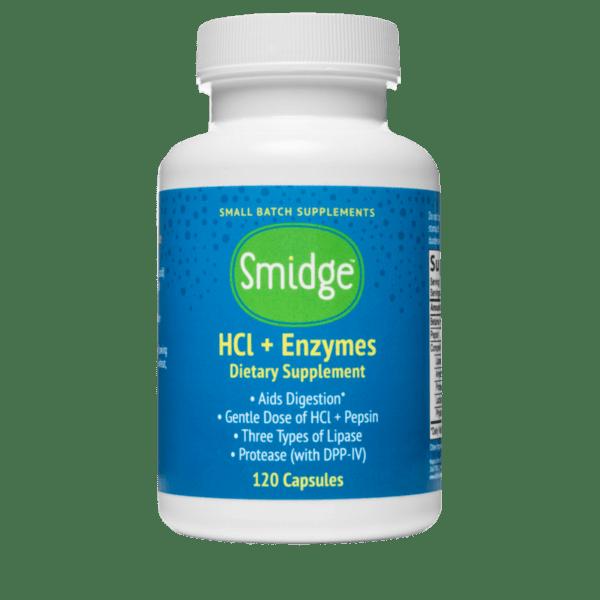 Smige® Храносмилателни ензими + HCl - 120 капсули