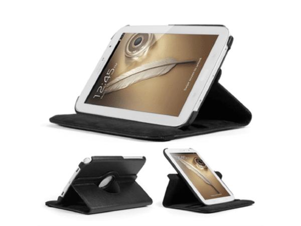 Кожен калъф за таблет Samsung Galaxy Note 8.0, GT-N5100 - черен