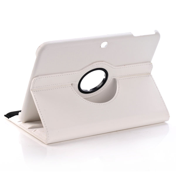 Кожен калъф за таблет Samsung Galaxy Tab 3, 10.1 P5200 - бял