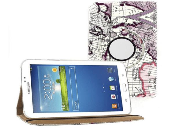 Кожен калъф за таблет Samsung Galaxy Tab 3 7.0 SM-T210 - карта