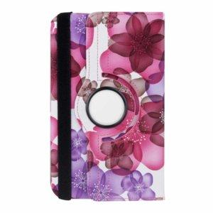 Кожен калъф за таблет Samsung Galaxy Tab 3 Lite 7.0 - цветя