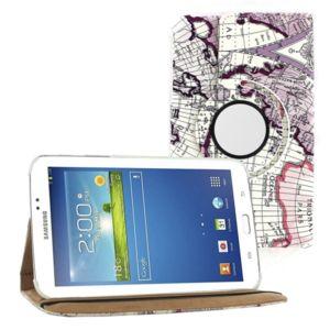 Кожен калъф за таблет Samsung Galaxy Tab 3 Lite 7.0 - карта