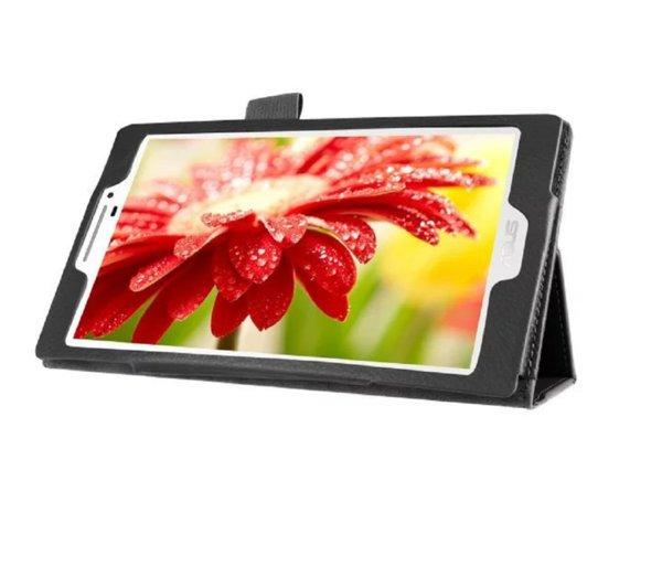 Кожен калъф флип за таблет Asus ZenPad 7.0 Z370CG - черен