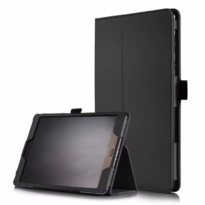 Кожен калъф флип за таблет Asus ZenPad 3S 10 Z500 - черен