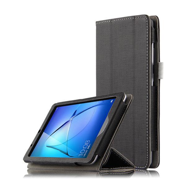 Кожен калъф флип за таблет Huawei MediaPad T3 7 WiFi - черен