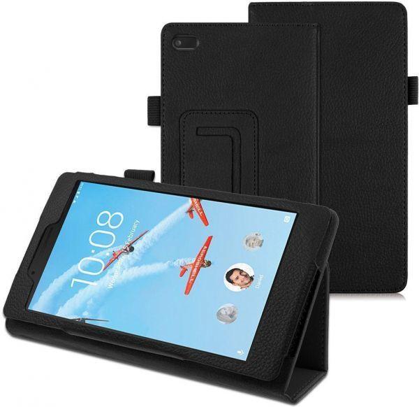 Кожен калъф флип за таблет Lenovo Tab 7 Essential  TB-7304 - черен